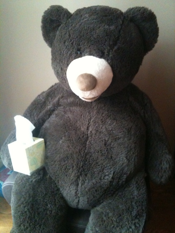 Huggy with Kleenex