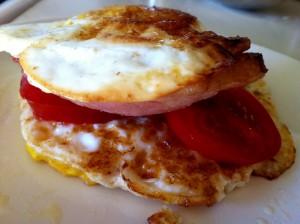 egg & ham sammies
